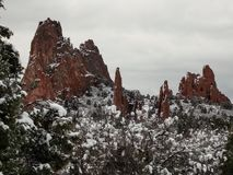 Winter Morning at Garden of the Gods stock image