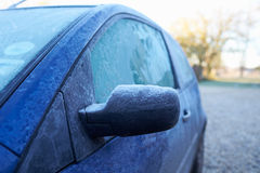 Winter Morning With Ice On Car Exterior Royalty Free Stock Images