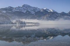 A winter morning at Lake Kochel Stock Photography