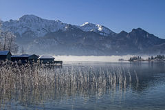 A winter morning at Lake Kochel Stock Photos