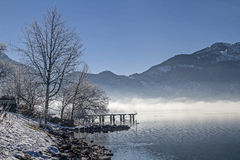 A winter morning at Lake Kochel Stock Photography