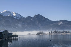 A winter morning at Lake Kochel Royalty Free Stock Photography
