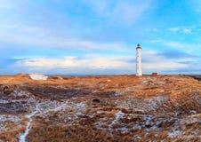 Winter morning at Lyngvig Fyr.  stock photos