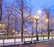 Winter morning in Moscow Royalty Free Stock Images