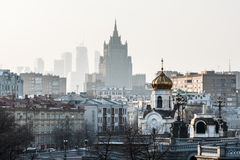 Winter morning in Moscow! Royalty Free Stock Images