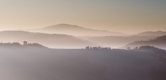 Winter morning mountain landscape Stock Photography