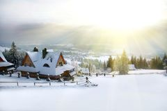 Winter Morning In The Mountains stock image