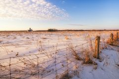 A winter morning in rural West Quebec Stock Image