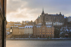 Winter morning in Stockholm, Sweden Royalty Free Stock Photo