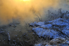 The winter morning Stock Images