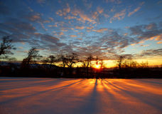 Winter morning sunrise 2 Royalty Free Stock Images