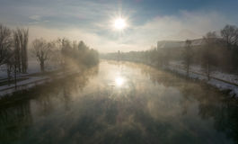 Winter morning view Royalty Free Stock Image