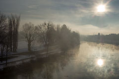 Winter morning view Stock Photography