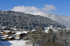 Winter in Morzine, Haute-Savoie, France Stock Images