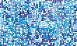 Winter mosaic. (bright seamless background stock illustration