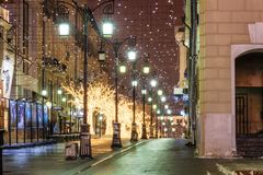 Free Winter Moscow Before Christmas And New Year Stock Image - 127404691