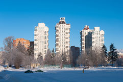Winter in Moscow, Russia Royalty Free Stock Images