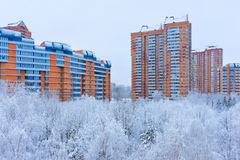 Winter in Moscow Russia. Architecture and nature background Stock Image