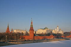 Winter Moscow at sunset Royalty Free Stock Photography