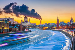 Winter in Moscow Stock Images