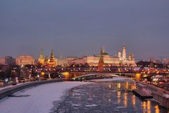 Winter in Moskau lizenzfreie stockfotografie