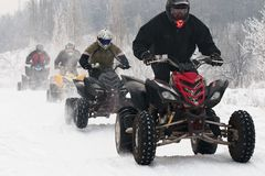 Winter motocross Stock Photography