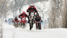 Winter motocross Royalty Free Stock Photo