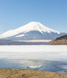 Winter Mount Fuji Yamanaka Lake Royalty Free Stock Photos