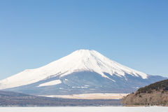 Winter Mount Fuji Yamanaka Lake Stock Image