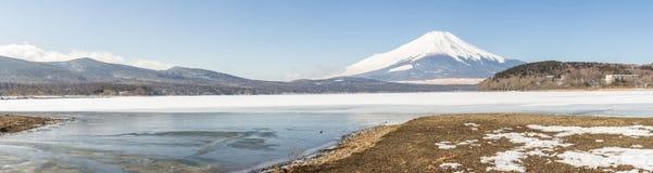Winter Mount Fuji Yamanaka Lake Stock Photo