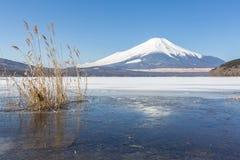 Winter Mount Fuji Yamanaka Lake Stock Photos