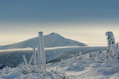 Zima góry Karkonosze Polska Stock Image