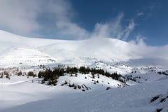 Winter Mountain. Winter snow mountain in Lebanon Royalty Free Stock Photo
