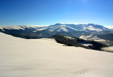 Winter mountain Stock Images