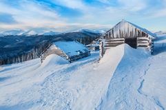 Winter in mountain Stock Photo