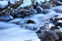 Winter mountain brook Stock Photo
