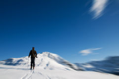 Winter mountain climbing Royalty Free Stock Images