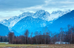 Winter mountain country landscape  (Austria). Stock Photography