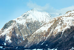 Winter mountain country landscape  (Austria). Stock Image