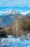 Winter mountain country landscape  (Austria). Royalty Free Stock Photography