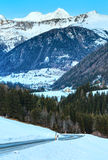 Winter mountain country landscape  (Austria). Stock Photo