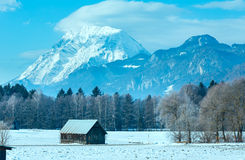 Winter mountain country landscape (Austria). Stock Photos