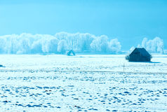 Winter mountain country landscape(Austria). Royalty Free Stock Photos