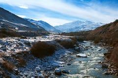 Winter in mountain Elbrus Stock Images