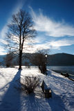 Winter at mountain lake Royalty Free Stock Photo