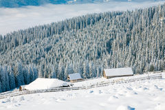 Winter mountain landscape Royalty Free Stock Images