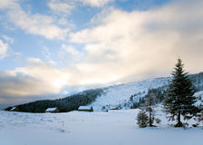 Winter Mountain Landscape Royalty Free Stock Photos