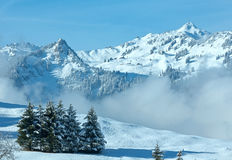 Winter mountain landscape (Austria, Bavaria). Stock Image