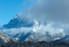 Winter mountain landscape (Austria, Fernpass, Tiroler Alpen) Stock Images