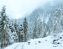 Winter mountain landscape  (Austria, Tirol). Royalty Free Stock Images